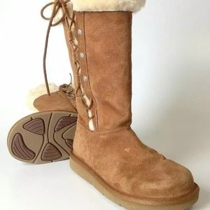 UGG Womens Upside Tall  Brown Boots 5163 SZ 8